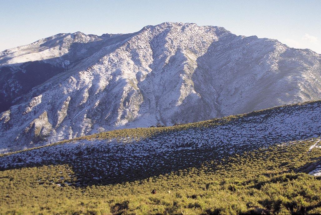 圖二十五:薄雪覆蓋的東郡大山。柯達KM25°-135底片掃瞄.戶外〝台灣百岳全集〞提供。